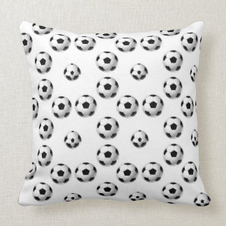 Football isolated on white background. throw pillow