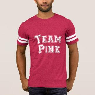 Football Jersey Baby Announcement Team Pink T-Shirt