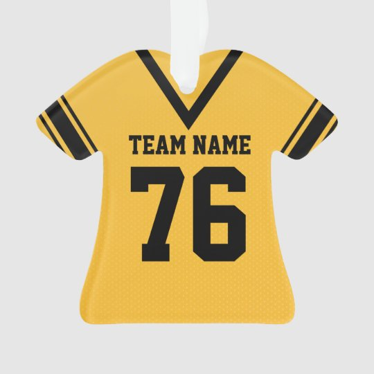Football Jersey Gold Uniform with Photo Ornament