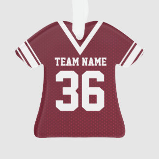 Football Jersey Maroon Uniform with Photo