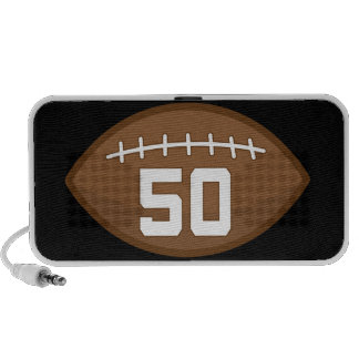 Football Jersey Number 50 Gift Idea Speaker