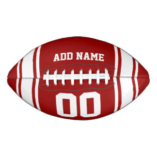 Football Jersey Red|White Personalized