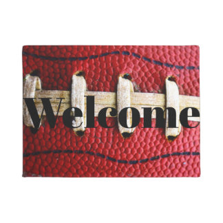 Football lace welcome mat