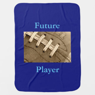 Football Laces Future Player Baby Blanket
