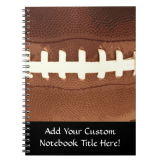 Football Laces Graphic Notebooks