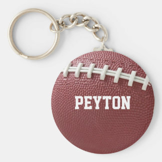 Football Laces Personalized Keychain