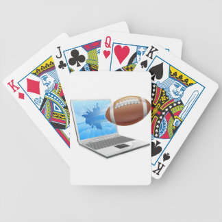 Football laptop concept bicycle playing cards