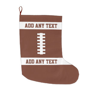 Football Large Christmas Stocking