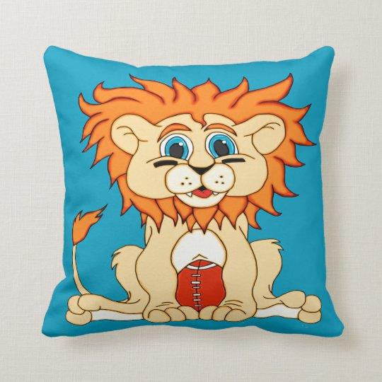 Football Lion Throw Pillow