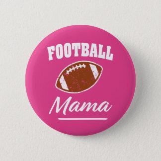 Football Mama funny saying button Pink