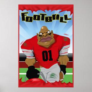 FOOTBALL MAN POSTER