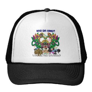 Football Mardi Gras Dragon King view notes Please Trucker Hat