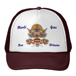 Football Mardi Gras think it's to early view notes Trucker Hat
