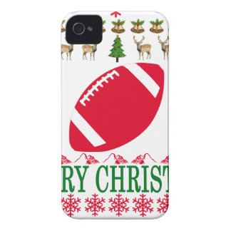 FOOTBALL MERRY CHRISTMAS . iPhone 4 CASES