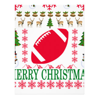 FOOTBALL MERRY CHRISTMAS . LETTERHEAD