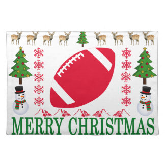 FOOTBALL MERRY CHRISTMAS . PLACEMAT