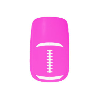 Football Mom or Girlfriend Cute Custom Colour Minx Nail Art