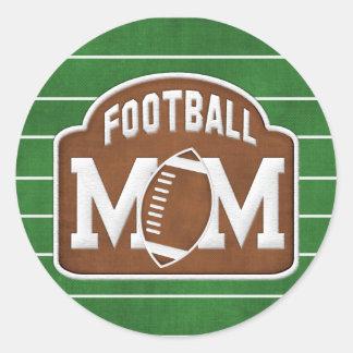 Football Mom Round Stickers