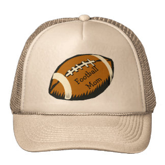 Football Mom Sports Brown and Black Hat