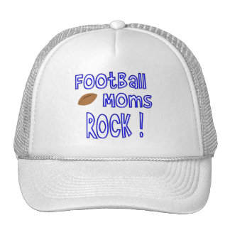 Football Moms Rock ! (blue) Trucker Hat