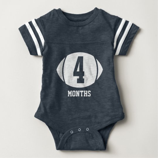 Football Month Four Baby Bodysuit