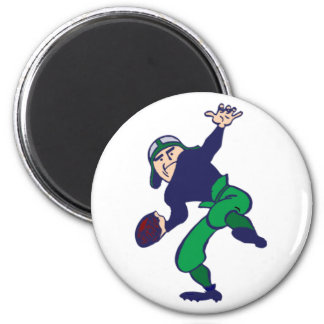 football more player 2 inch round magnet