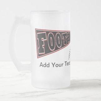 FOOTBALL Mug Beer Red / Garnet and Black - SRF