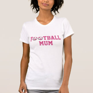 Football Mum v2 Soccer Ball Pink and White T-Shirt
