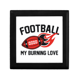 Football My Burning Love Jewelry Boxes