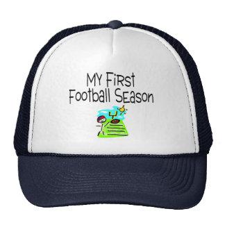 Football My First Fooball Season (Stick Figure) Trucker Hat