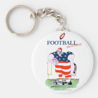 Football no prisoners, tony fernandes keychain