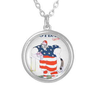 Football no prisoners, tony fernandes silver plated necklace