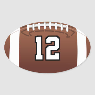 Football Number Oval Sticker