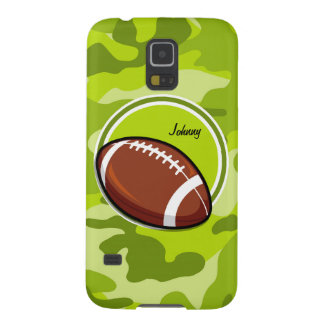 Football on bright green camo camouflage case for galaxy s5