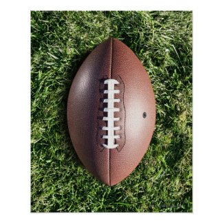 Football on Grass Poster