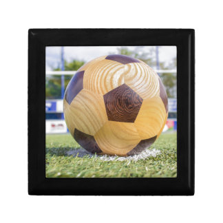 football on penalty spot with goal jewelry boxes