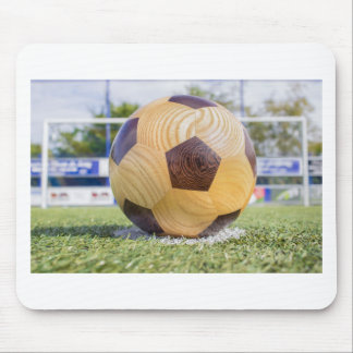 football on penalty spot with goal mouse pad