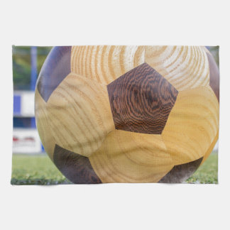 football on penalty spot with goal towel