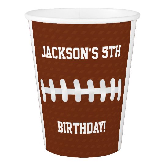 Football Paper Cups | Birthday Party Ideas Paper Cup