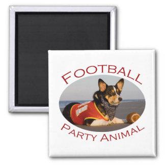Football Party Animal Fridge Magnet