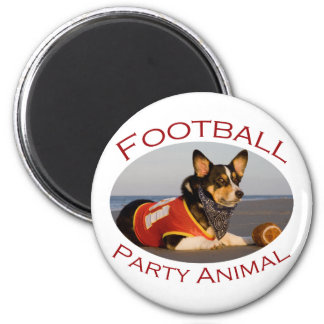 Football Party Animal Refrigerator Magnet