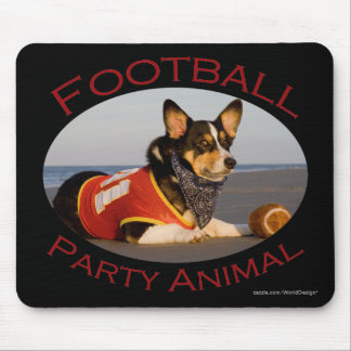 Football Party Animal Mouse Pad