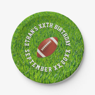 Football Party Customized 7 Inch Paper Plate