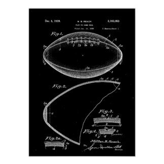 Football Patent Art, American Football Patent, Foo Poster