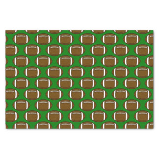 Football Pattern Design on Green Field Tissue Paper