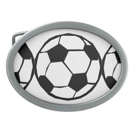Football pattern oval belt buckle