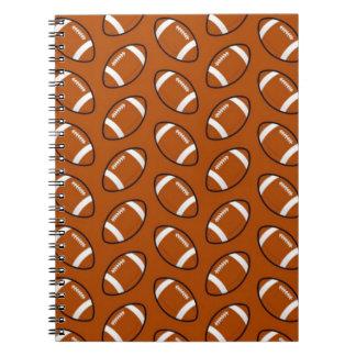 Football Pattern Spiral Notebook