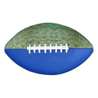 Football - Peacock Feathers and Royal Blue