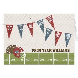 Football Pennant Thank You Card