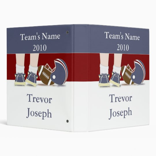 Football Photo Book Personalized 3 Ring Binders